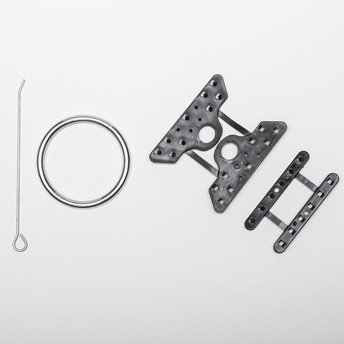 Composizione accessori antigrandine per reti
