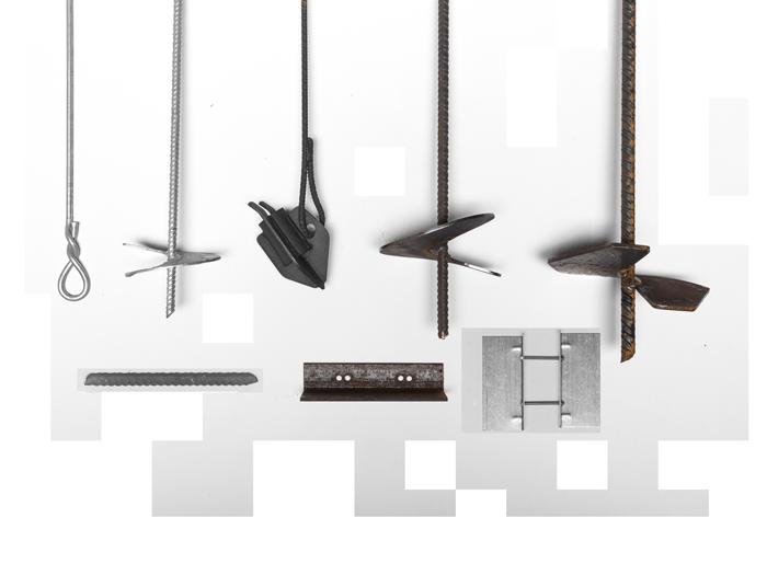composizione aste, ancoraggi e piastre